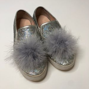 KATE SPADE Latisa slip on leather sequin feather 7